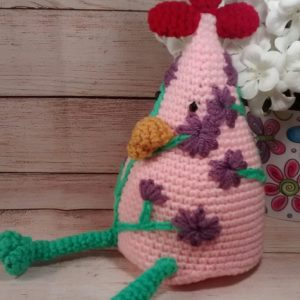 Country Chicken Decoration Pink