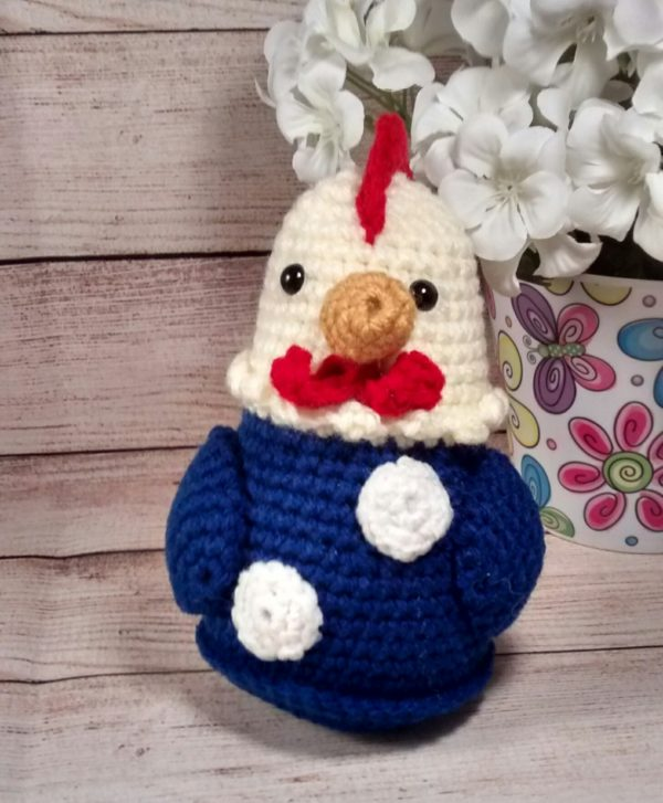 Mini Country Chicken Yellow-Blue