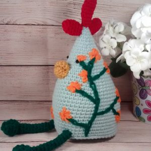 Country Chicken Decoration Green