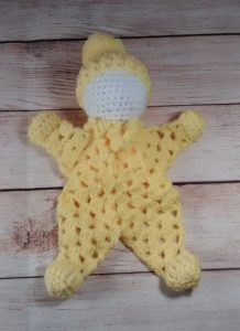 Cuddle Doll Yellow Baby