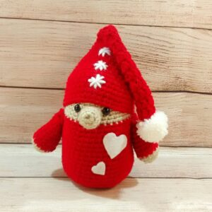 Red Christmas Gnome Decoration