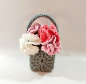 Basket With Carnation Bouquet