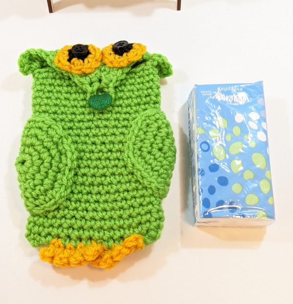 Green Owl Phone/Tissue Cover