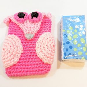 Pink Owl Phone/Tissue Cover