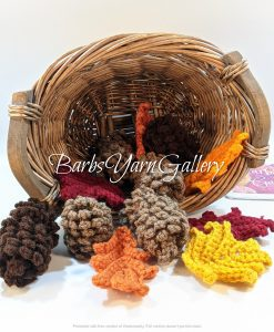 Fall Pine Cones With Leaves